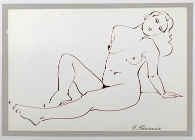 Obraz do salonu artysty Henryk Płóciennik pod tytułem Akt kobiecy szkic 1