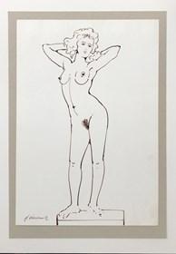 Obraz do salonu artysty Henryk Płóciennik pod tytułem Akt kobiecy szkic 4