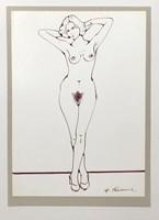 Obraz do salonu artysty Henryk Płóciennik pod tytułem Akt kobiecy szkic 5