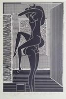 Grafika do salonu artysty Henryk Płóciennik pod tytułem Ero VIII (odbitka 2/5)