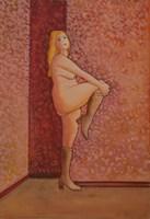 Obraz do salonu artysty Henryk Płóciennik pod tytułem Kobieta stojąca - akt na tle ściany 4
