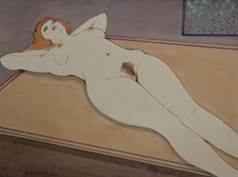 Obraz do salonu artysty Henryk Płóciennik pod tytułem Kobeta leżąca akt - 1