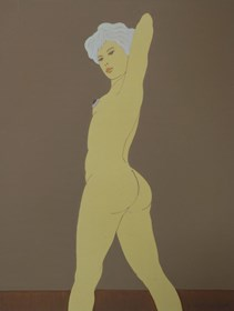 Obraz do salonu artysty Henryk Płóciennik pod tytułem Kobieta stojąca akt - 5
