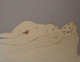 Obraz do salonu artysty Henryk Płóciennik pod tytułem Kobeta leżąca akt - 2