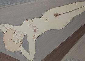 Obraz do salonu artysty Henryk Płóciennik pod tytułem Kobeta leżąca akt - 3