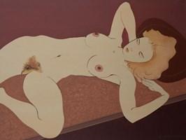 Obraz do salonu artysty Henryk Płóciennik pod tytułem Kobeta leżąca akt - 4