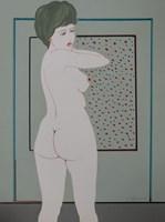 Obraz do salonu artysty Henryk Płóciennik pod tytułem Kobieta stojąca akt - 6