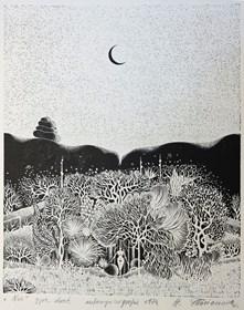 Obraz do salonu artysty Henryk Płóciennik pod tytułem Noc