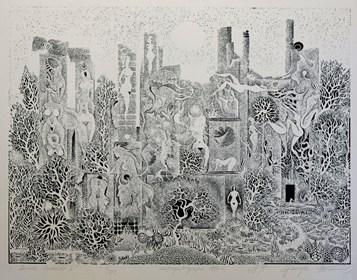 Obraz do salonu artysty Henryk Płóciennik pod tytułem Zamek szwedzki II odbitka 5/50