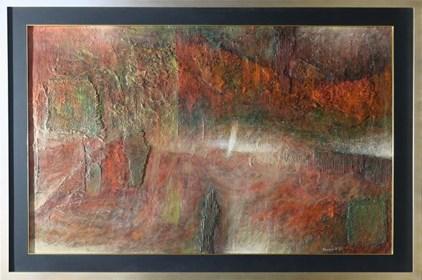 Obraz do salonu artysty Krzysztof Kopeć pod tytułem Refleksje podróży