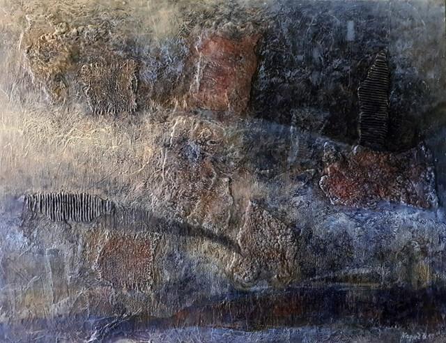 Obraz do salonu artysty Krzysztof Kopeć pod tytułem Kurtyna zapomnienia