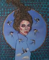 Obraz do salonu artysty Viola Bąbol pod tytułem Muza Gaja niosąca dobrą wiadomość