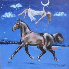 Obraz do salonu artysty Małgorzata Łodygowska pod tytułem Chłodna noc