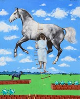 Obraz do salonu artysty Małgorzata Łodygowska pod tytułem Gra