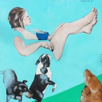 Obraz do salonu artysty Małgorzata Łodygowska pod tytułem Karmiaca