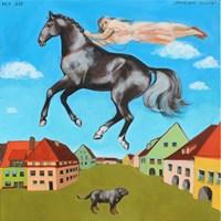 Obraz do salonu artysty Małgorzata Łodygowska pod tytułem Opuszczam miasto