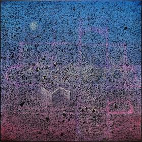 Obraz do salonu artysty Grzegorz Klimek pod tytułem Tajemnicza przestrzeń