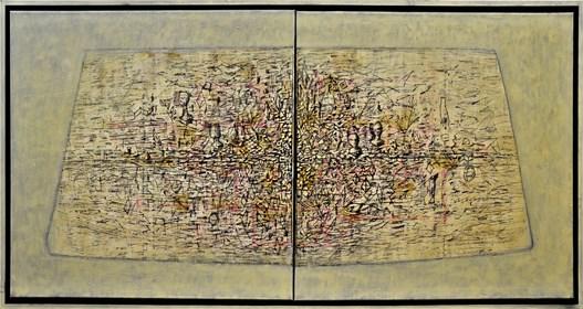 Obraz do salonu artysty Grzegorz Klimek pod tytułem Dwie wyspy