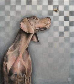 Obraz do salonu artysty Sławomir Setlak pod tytułem Przyjaciel trzmiel