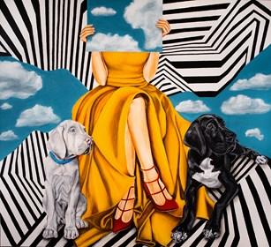 Obraz do salonu artysty Sławomir Setlak pod tytułem Myśli niebieskie ll
