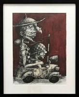 Obraz do salonu artysty Piotr Kamieniarz pod tytułem Don Kichot i Sancho