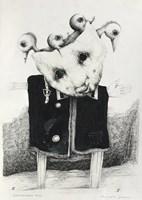 Obraz do salonu artysty Piotr Kamieniarz pod tytułem Głowa pełna pomysłów