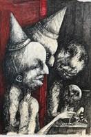 Obraz do salonu artysty Piotr Kamieniarz pod tytułem Chcelibyśmy przedstawić Ci nowego przyjaciela