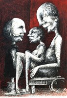 Living room painting by Piotr Kamieniarz titled Don't think that you'll be our friend