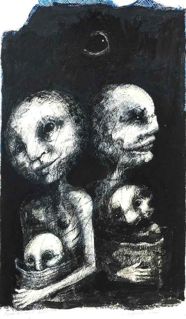 Obraz do salonu artysty Piotr Kamieniarz pod tytułem Wygnanie zraju