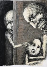 Obraz do salonu artysty Piotr Kamieniarz pod tytułem Ciągle boję się moich starych demonów