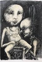 Obraz do salonu artysty Piotr Kamieniarz pod tytułem Stosunki międzyludzkie są nad wyraz skomplikowane