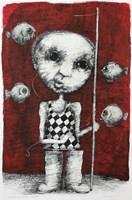 Obraz do salonu artysty Piotr Kamieniarz pod tytułem Wędkarz