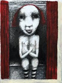 Living room painting by Piotr Kamieniarz titled Shame