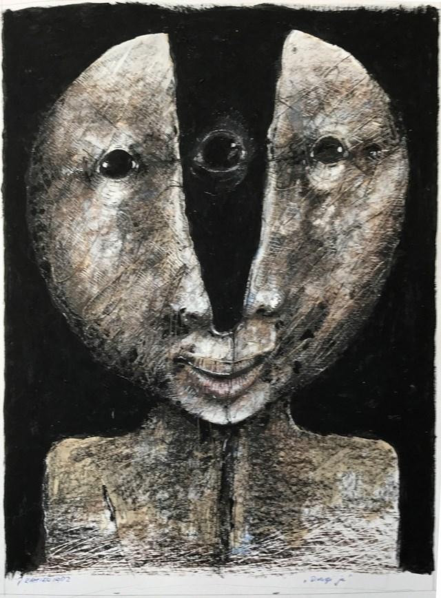 Obraz do salonu artysty Piotr Kamieniarz pod tytułem Drugi ja