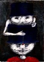 Grafika do salonu artysty Piotr Kamieniarz pod tytułem Hipnotyzer