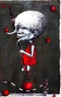 Living room print by Piotr Kamieniarz titled The juggler