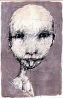 Grafika do salonu artysty Piotr Kamieniarz pod tytułem Nie będę trzymał języka za zębami