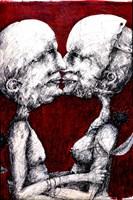 Grafika do salonu artysty Piotr Kamieniarz pod tytułem Gorzka miłość