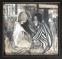 Obraz do salonu artysty David Pataraia pod tytułem Pasażerka 1