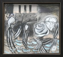 Obraz do salonu artysty David Pataraia pod tytułem Pasażerka 2