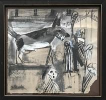 Obraz do salonu artysty David Pataraia pod tytułem Pasażerka 3