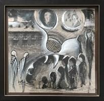 Obraz do salonu artysty David Pataraia pod tytułem Pasażerka 4