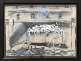 Obraz do salonu artysty David Pataraia pod tytułem Pasażerka 5
