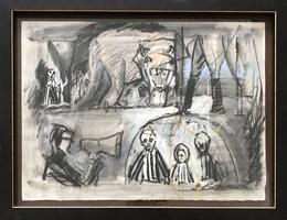 Obraz do salonu artysty David Pataraia pod tytułem Pasażerka 6