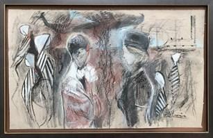 Obraz do salonu artysty David Pataraia pod tytułem Pasażerka 8