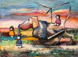 Obraz do salonu artysty David Pataraia pod tytułem Bez tytułu 9