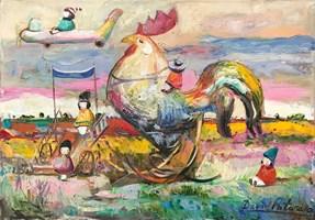 Obraz do salonu artysty David Pataraia pod tytułem Bez tytułu 14