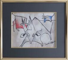 Obraz do salonu artysty David Pataraia pod tytułem Byk II