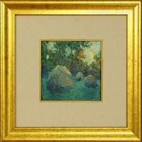 Obraz do salonu artysty Anatol Martyniuk pod tytułem Pejzaż Z Kopkami Siana