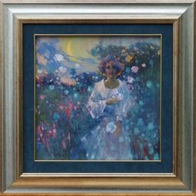 Obraz do salonu artysty Anatol Martyniuk pod tytułem Dziewczyna w Kwiatach